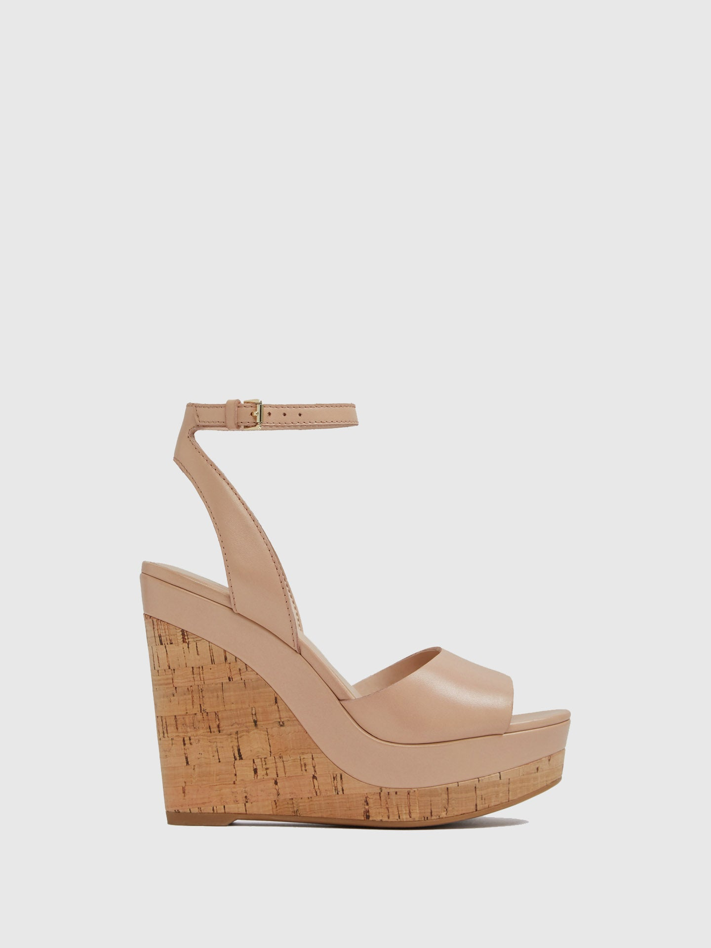Aldo Beige Wedge Sandals