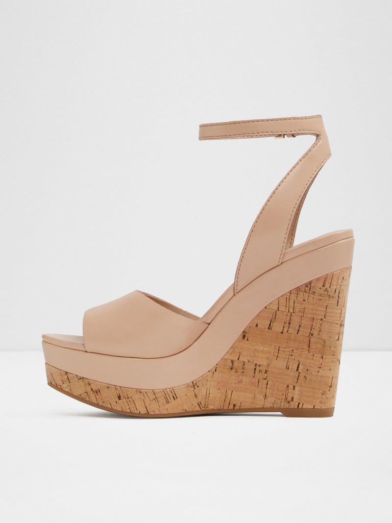 Beige Wedge Sandals