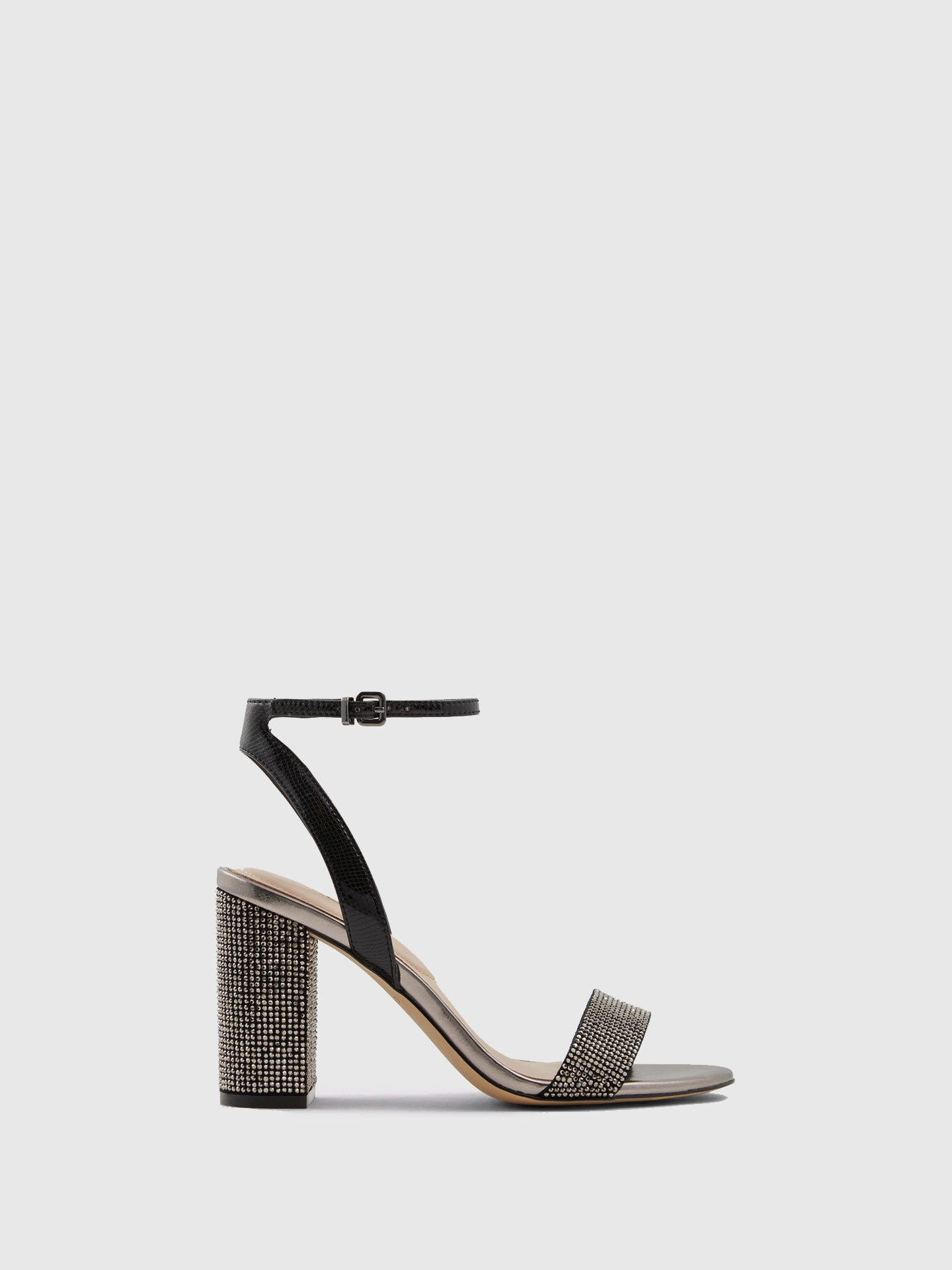 Aldo Black Chunky Heel Sandals