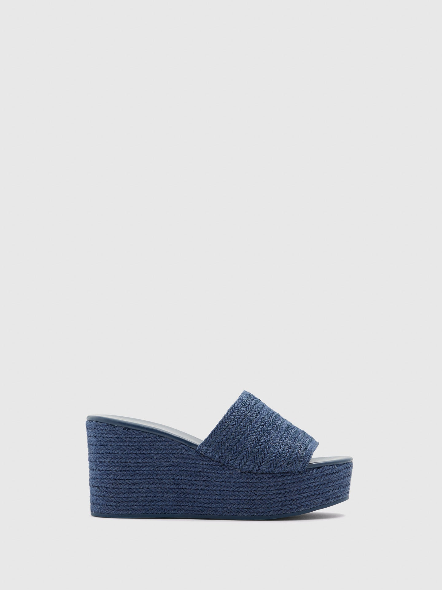Aldo Blue Wedge Mules