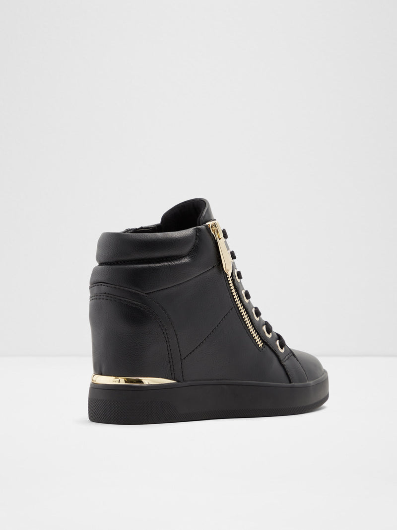 Black Hi-Top Trainers