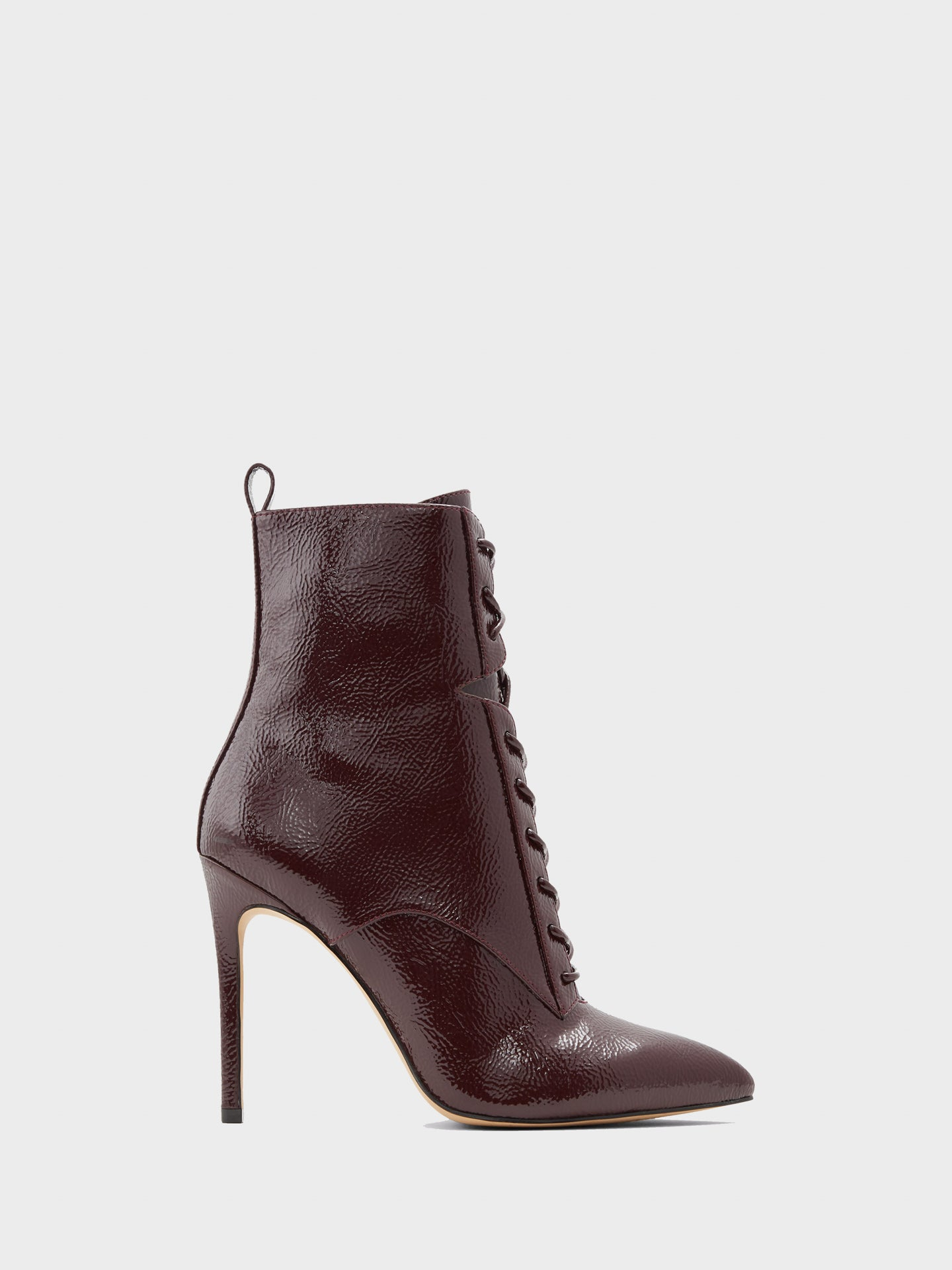 Aldo Burgundy Pointed Toe Ankle Boots