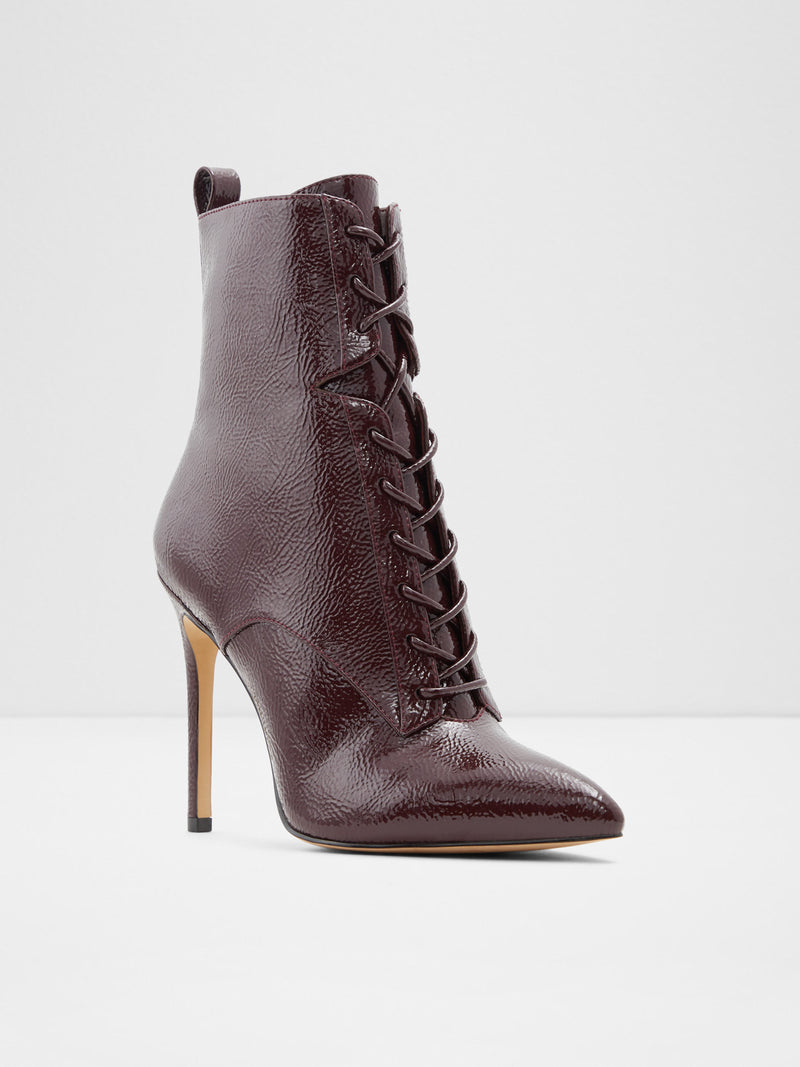 Burgundy Pointed Toe Ankle Boots