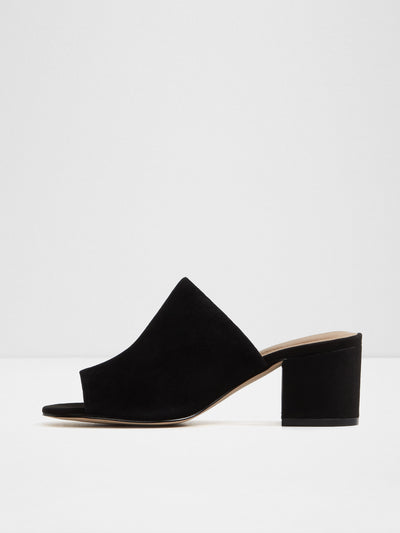 Aldo Black Open Toe Mules