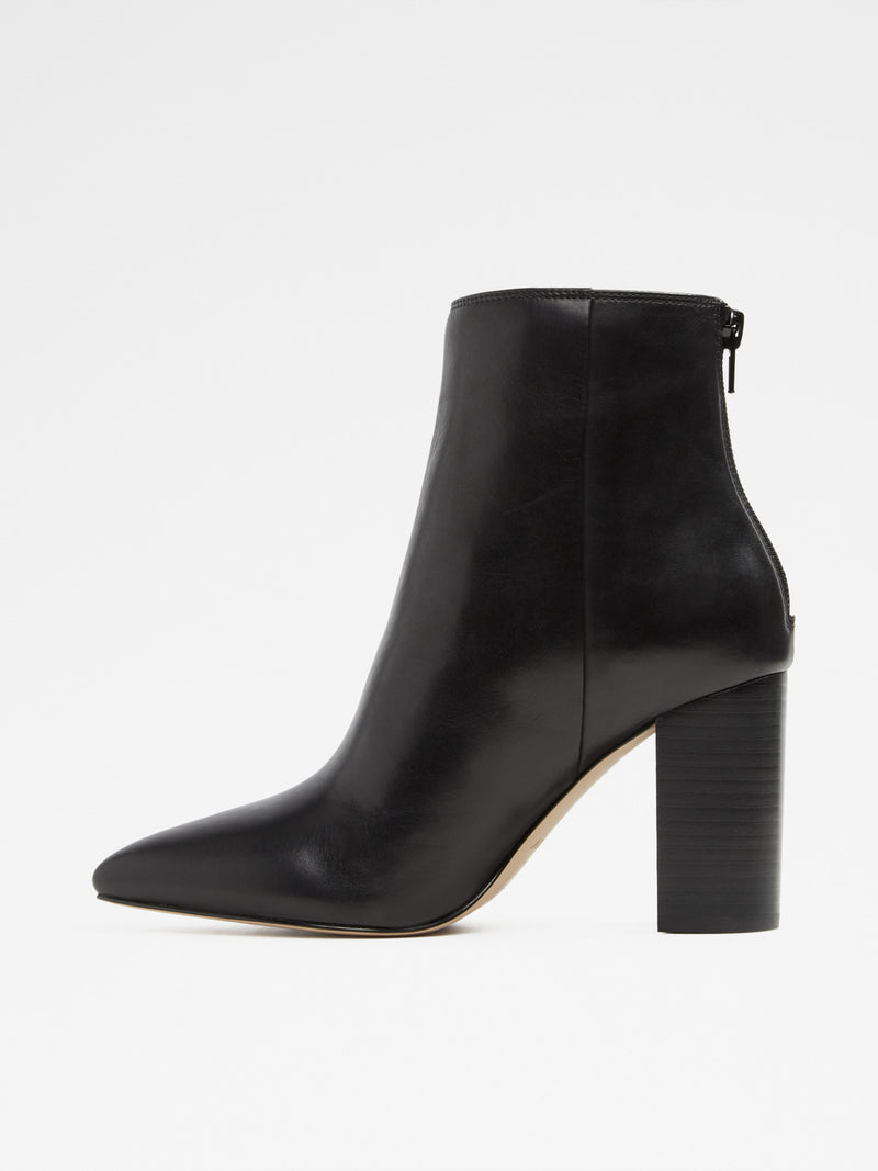 Aldo Black Pointed Toe Ankle Boots