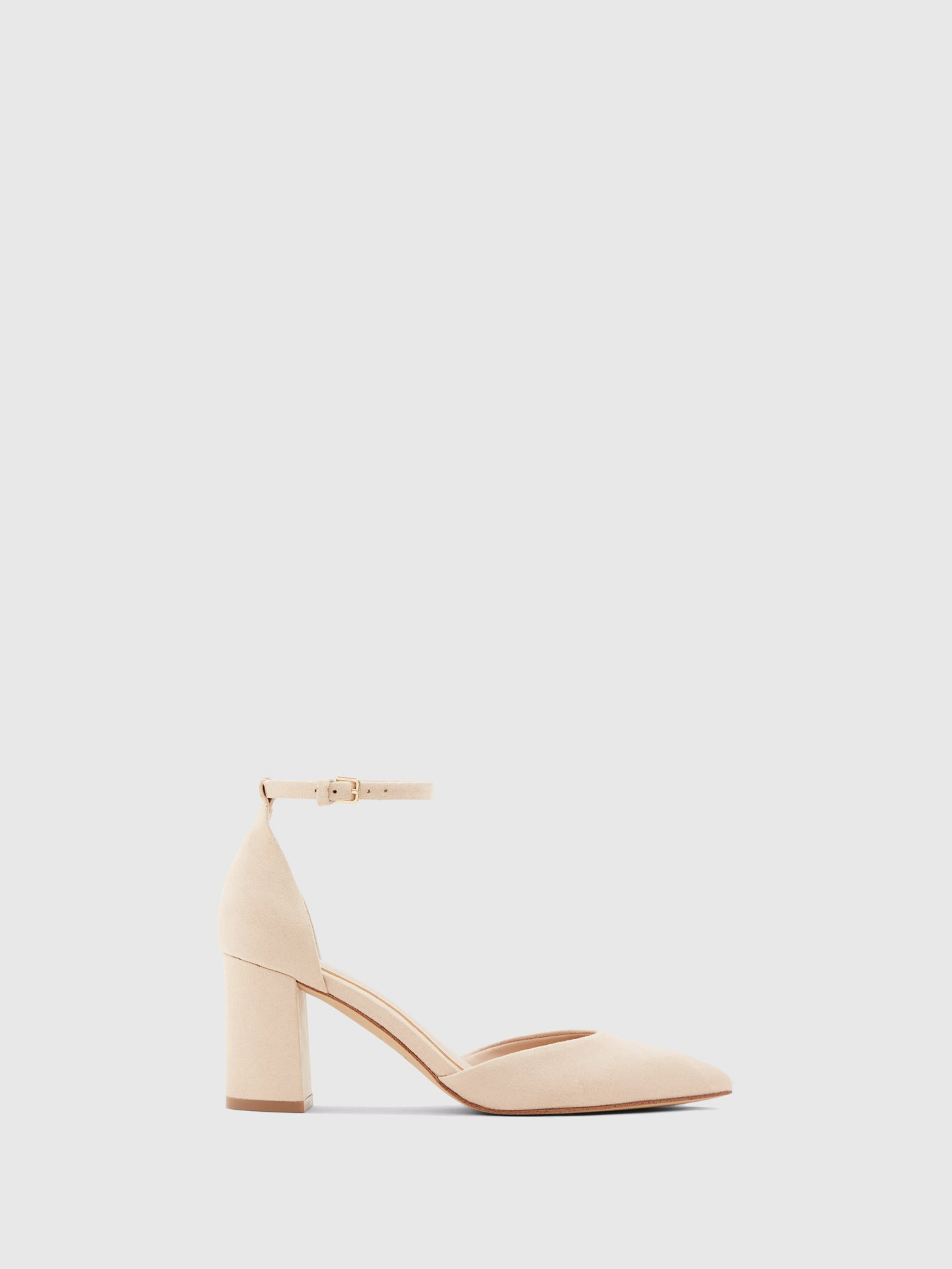 Aldo LightPink Ankle Strap Pumps