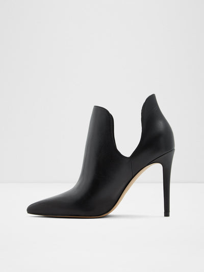 Aldo Black Leather Stiletto Shoes