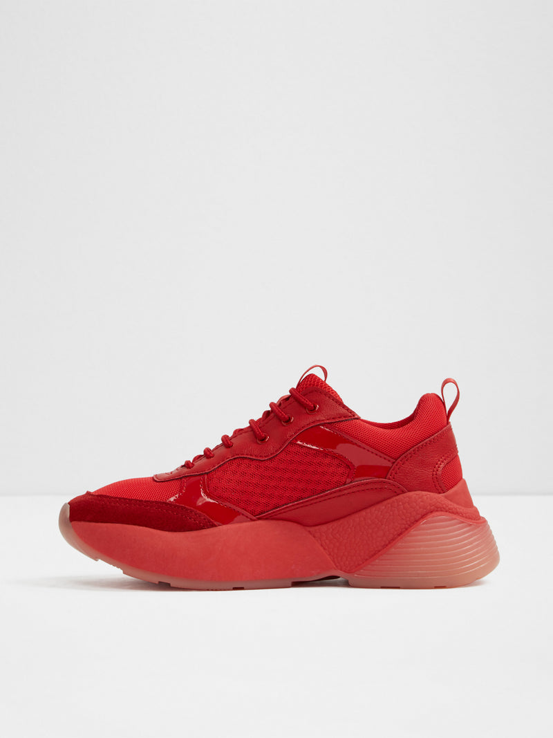 Aldo Red Platform Trainers