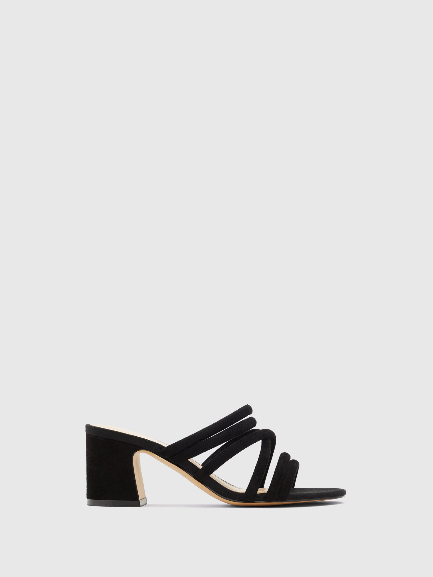 Aldo Black Strappy Mules