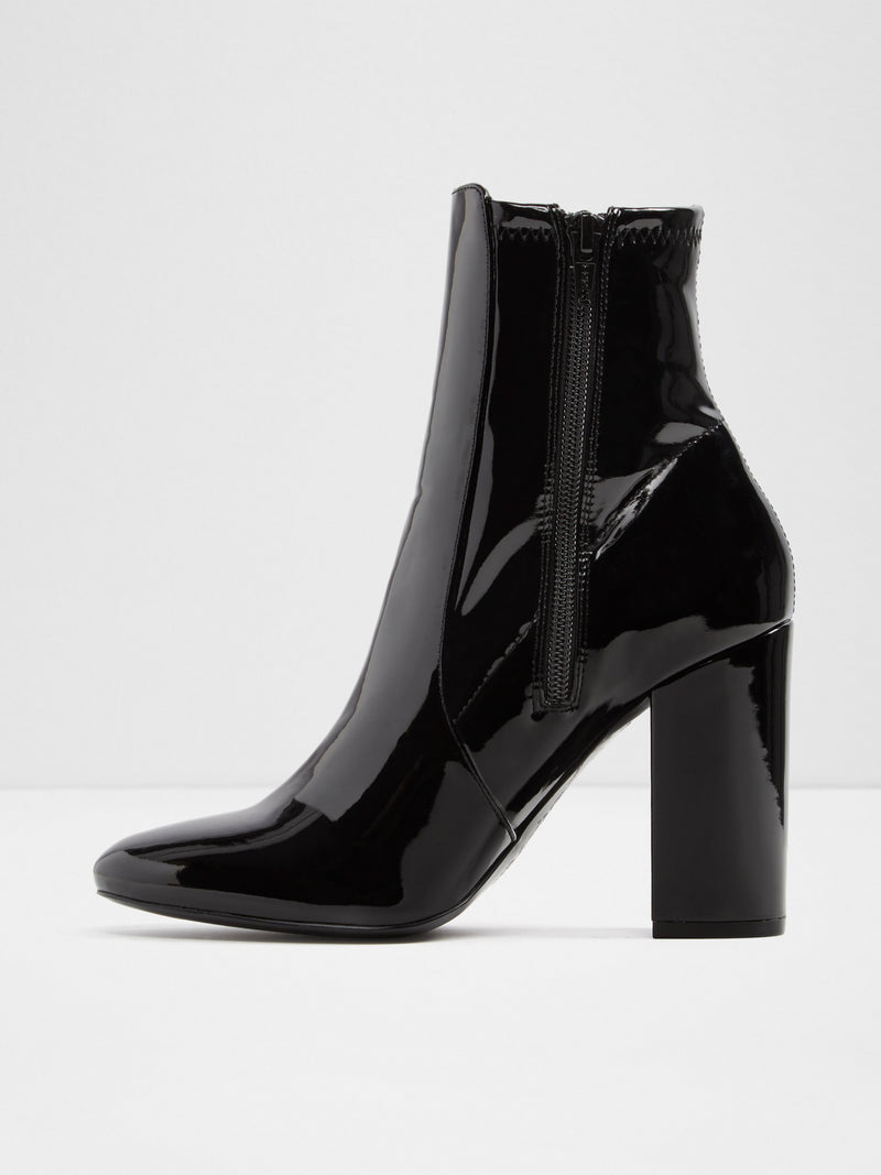 Aldo Black Zip Up Ankle Boots