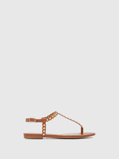 Aldo Maroon Sling-Back Sandals