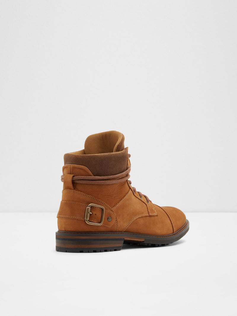 Aldo Camel Lace-up Boots