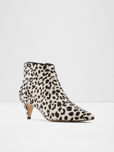 Aldo Black White Zip Up Ankle Boots