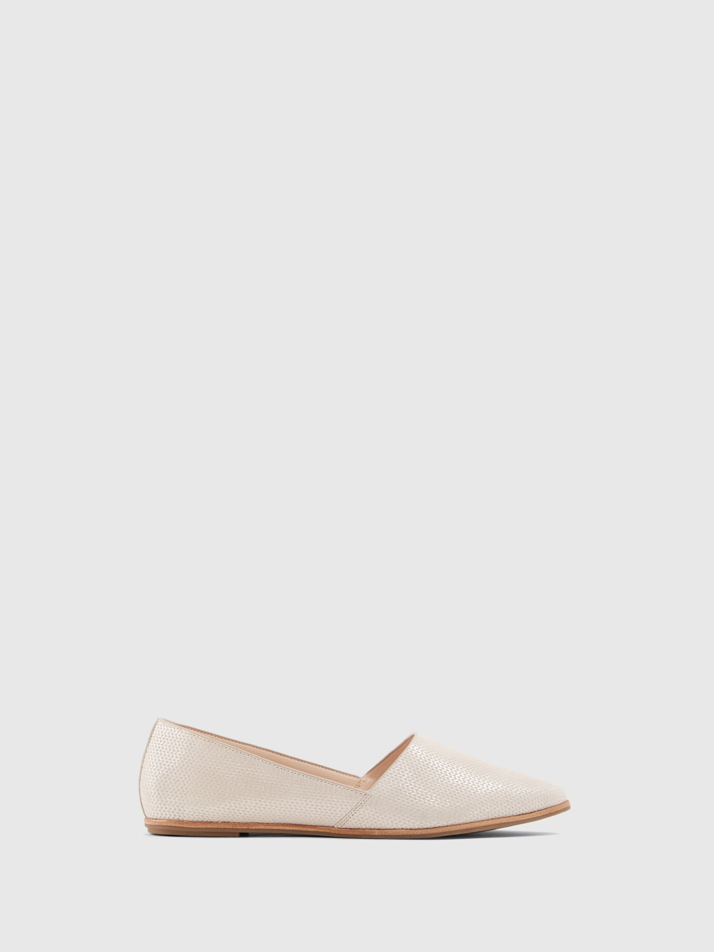 Aldo Beige Pointed Toe Ballerinas