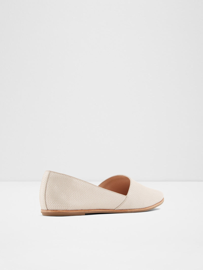 Beige Pointed Toe Ballerinas