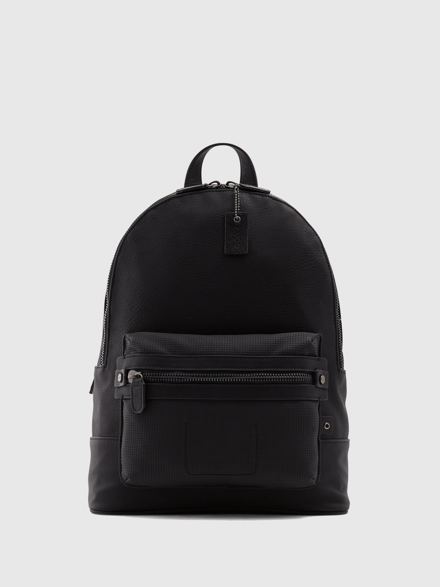 Aldo Black Leather Backpack