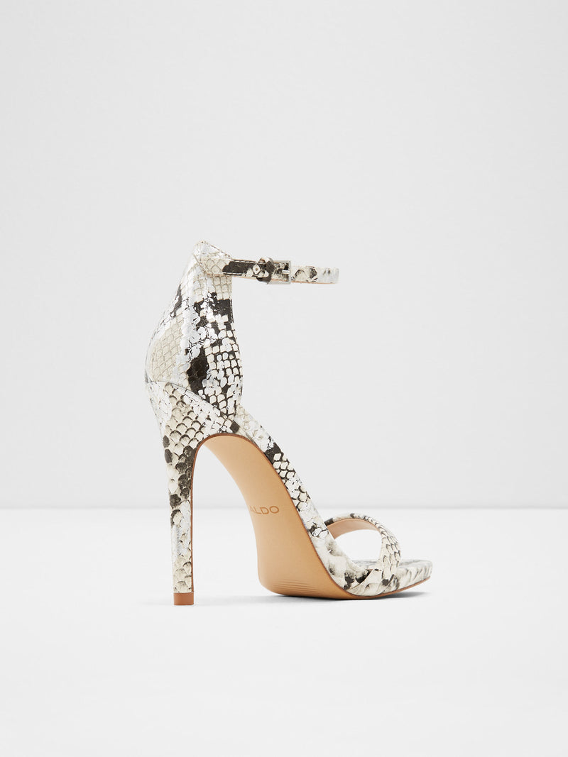Aldo Black White Heel Sandals