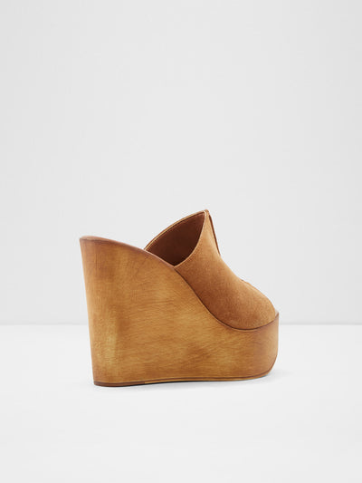 Aldo Brown Wedge Sandals