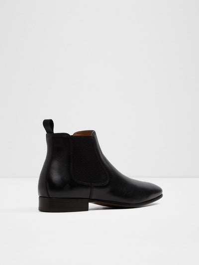 Aldo Black Elasticated Ankle Boots