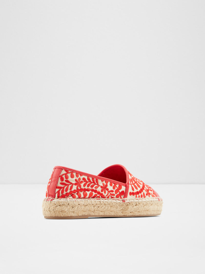 Red Embroidered Espadrilles