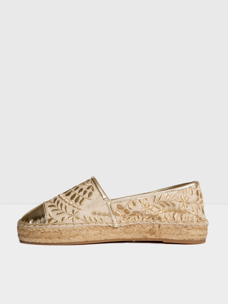 Aldo Gold Slip-on Espadrilles