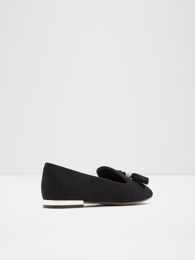 Black Pointed Toe Ballerinas