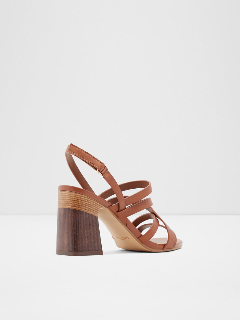 Brown Wrap Sandals