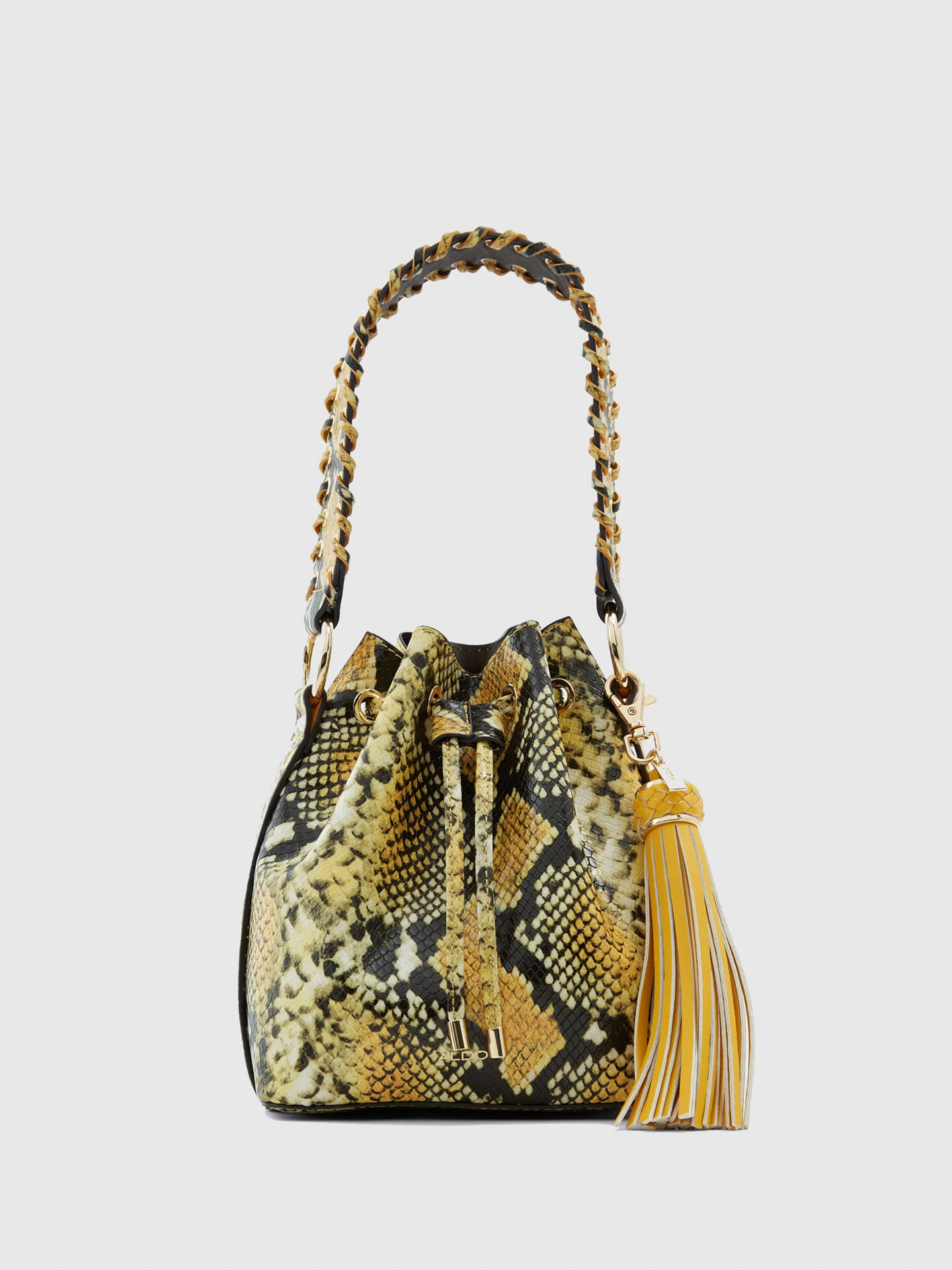 Aldo Yellow Black Shoulder Bag