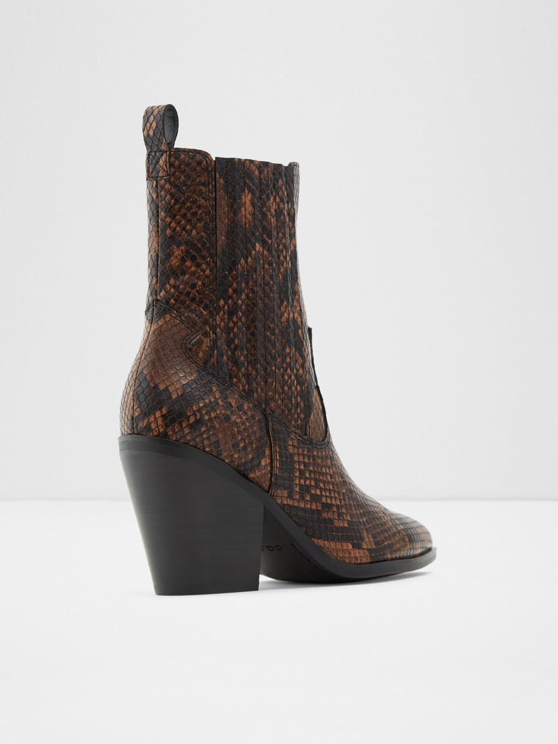 Aldo Brown Cowboy Ankle Boots