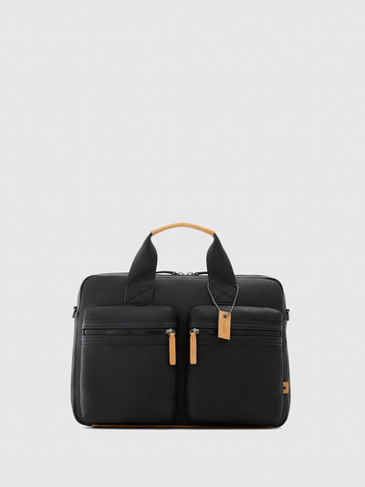 Aldo Black Leather Briefcase