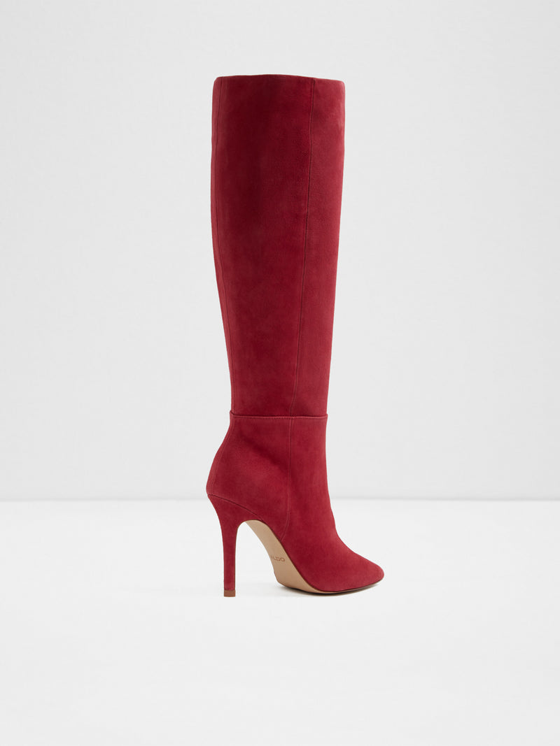 Red Knee-High Boots