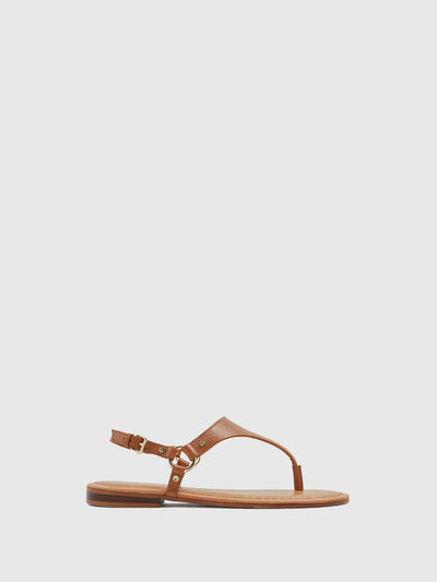 Aldo Maroon Thong Sandals