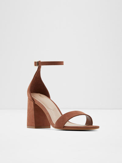 Aldo Brown Ankle Strap Sandals