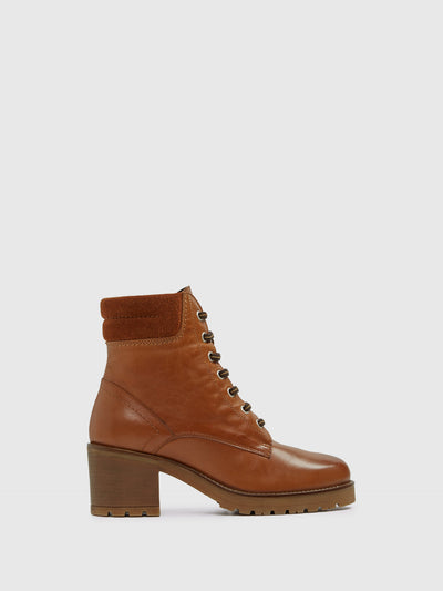 Aldo Maroon Lace-up Ankle Boots