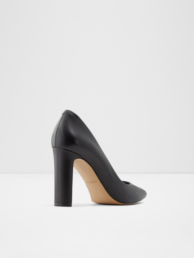 Aldo Black Leather Classic Pumps