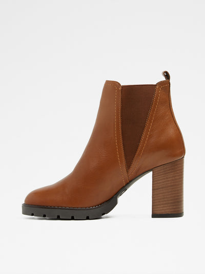 Aldo Maroon Elasticated Ankle Boots