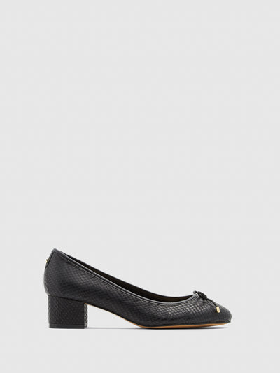 Aldo Black Chunky Heel Shoes