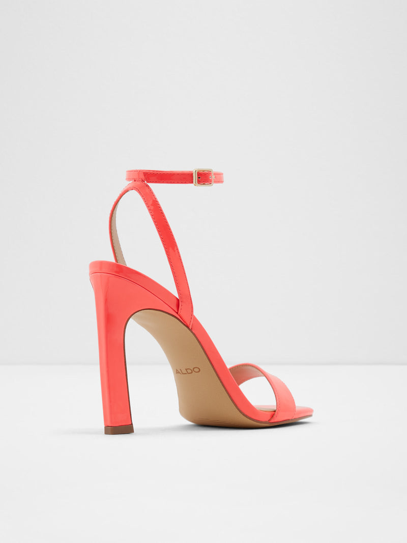 Aldo Orange Ankle Strap Sandals