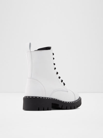 Aldo White Lace-up Boots