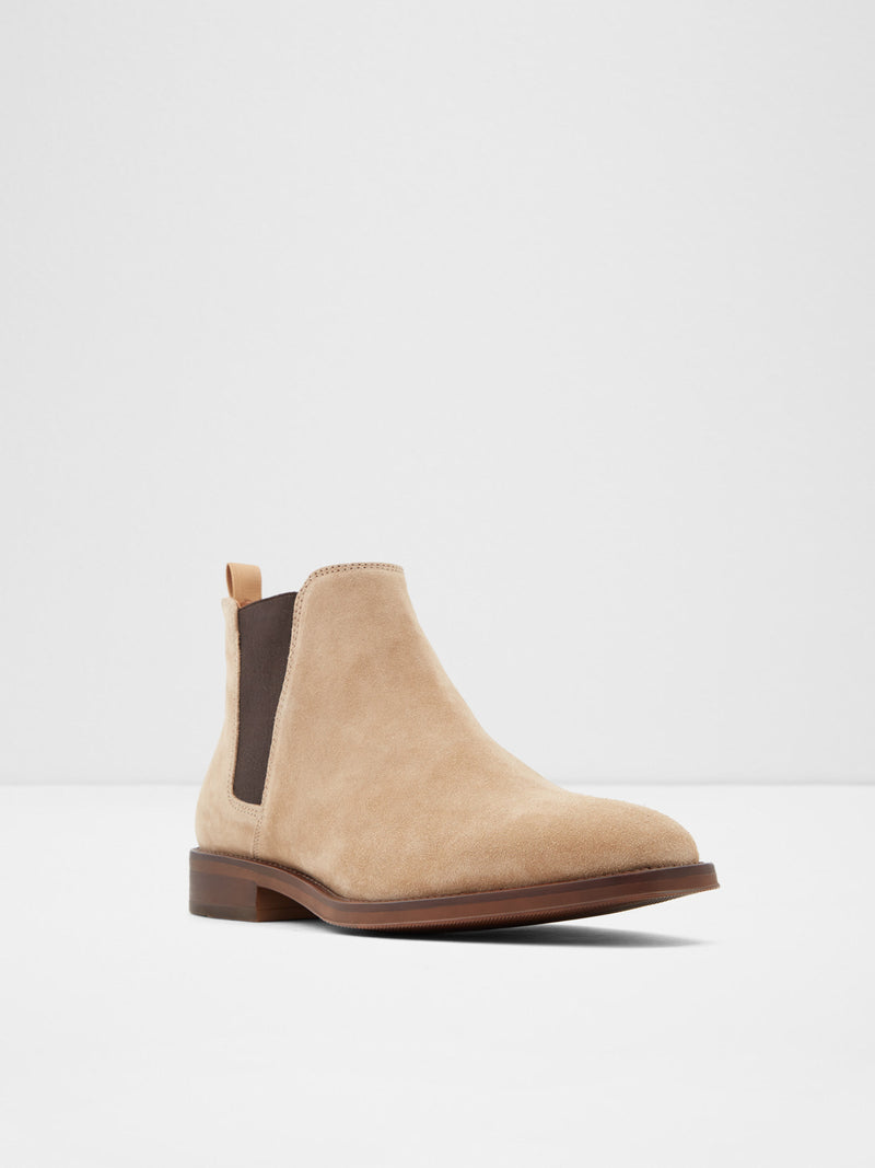 Aldo Light Brown Round Toe Ankle Boots