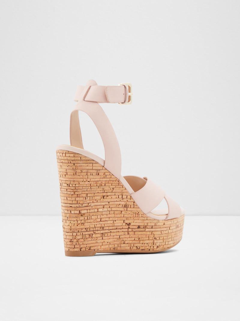 LightPink Wedge Sandals
