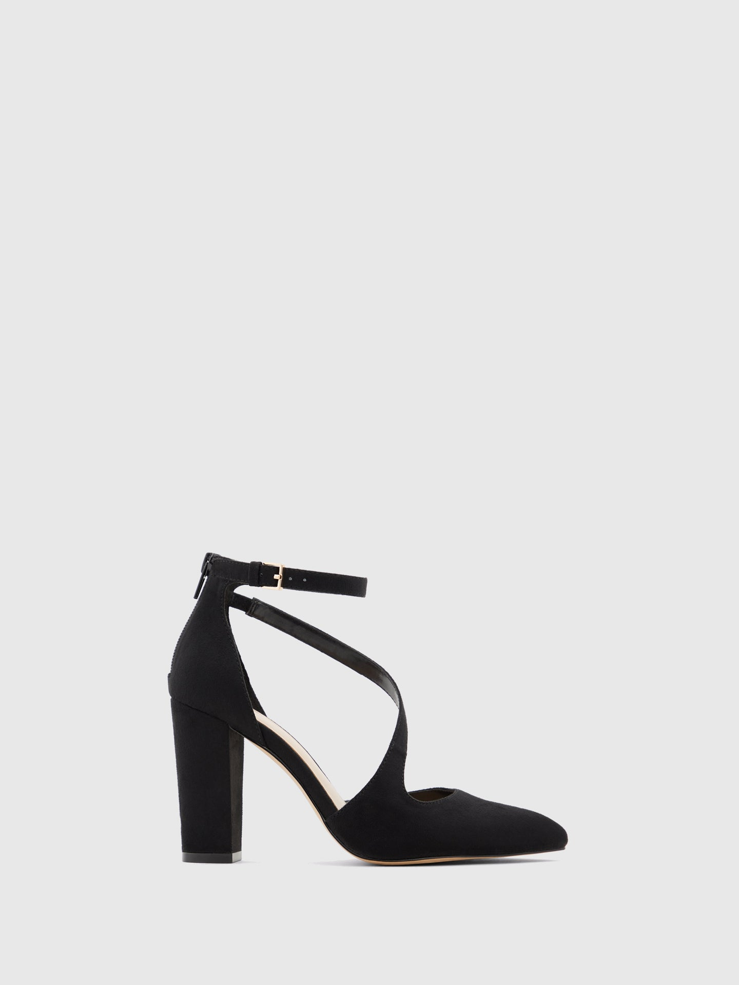 Aldo Black Ankle Strap Pumps