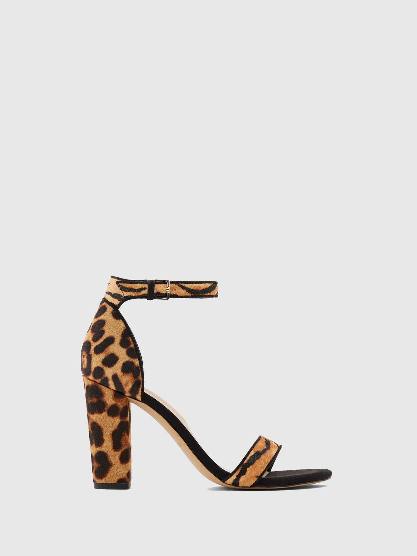 Aldo Brown Black Ankle Strap Sandals