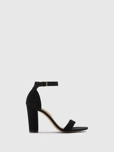 Aldo Black Ankle Strap Sandals