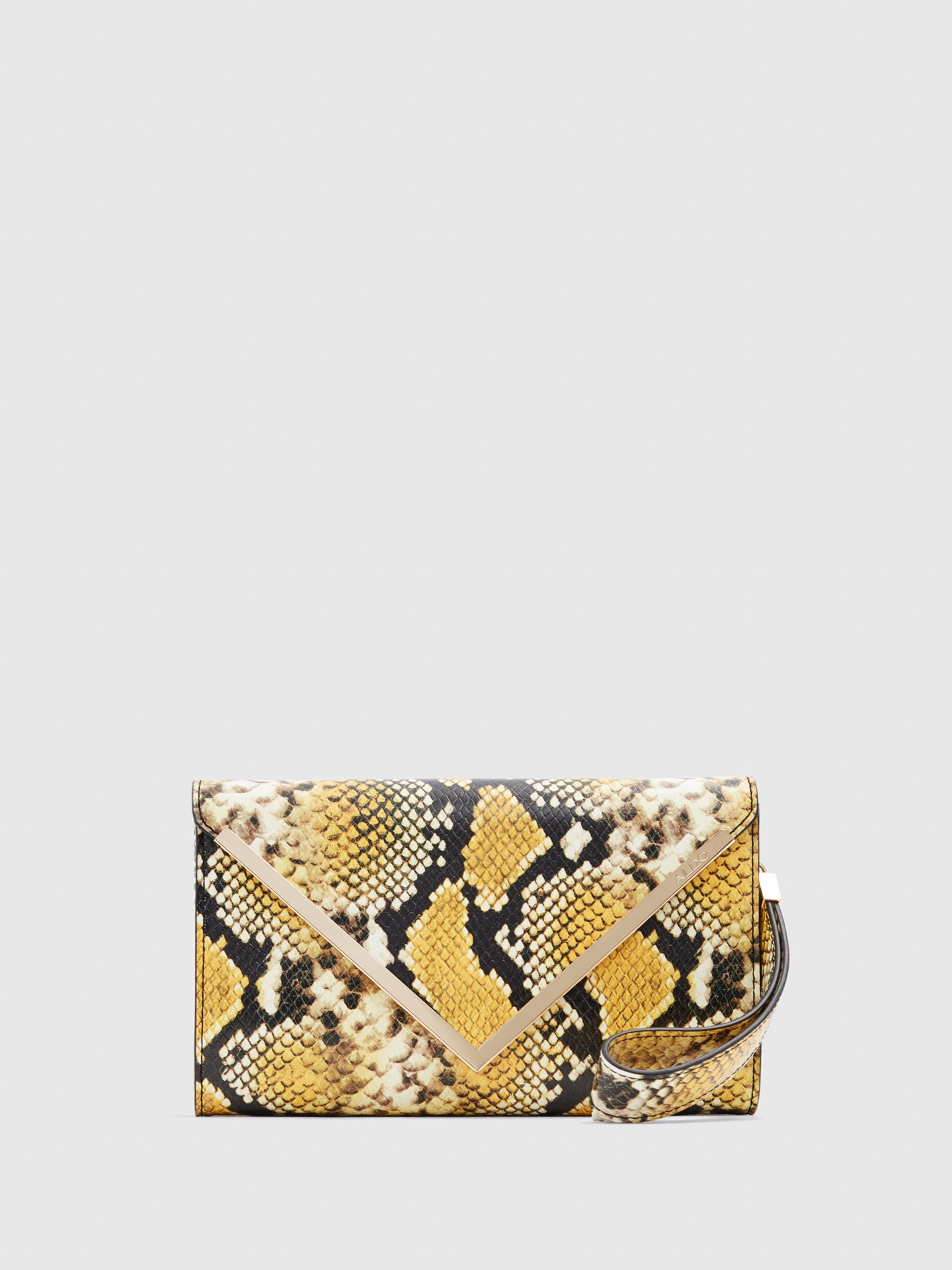 Aldo Yellow Black Clutch