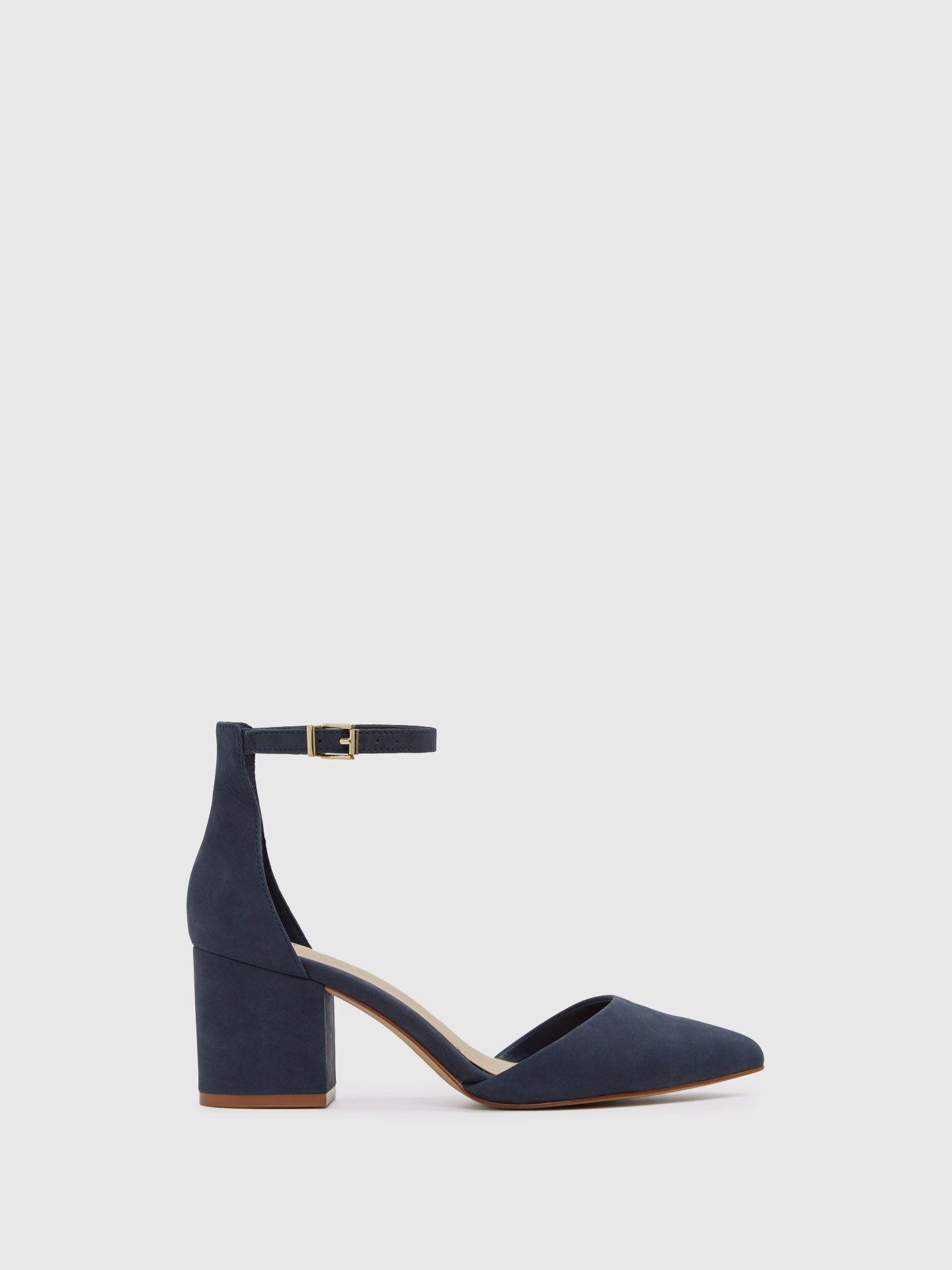 Aldo Navy Ankle Strap Shoes