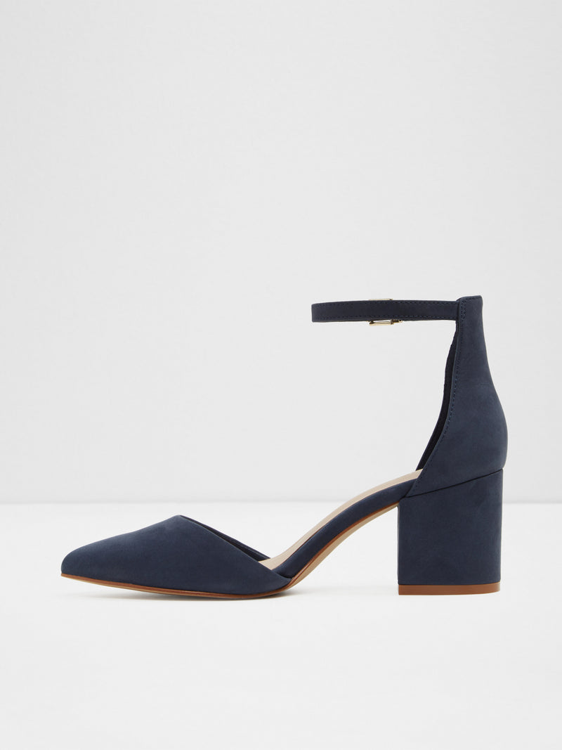 Navy Ankle Strap Shoes