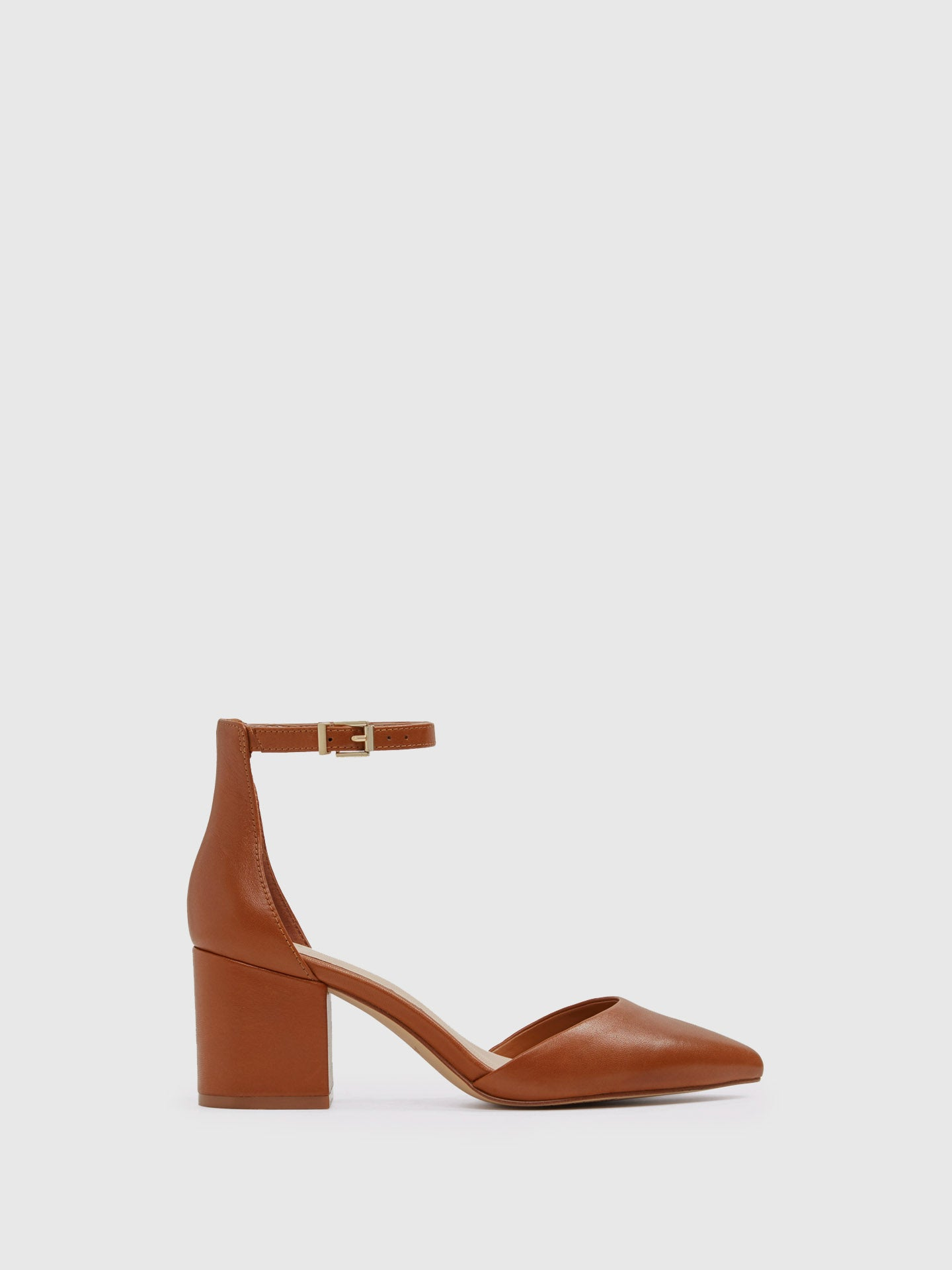 Aldo Maroon Ankle Strap Shoes