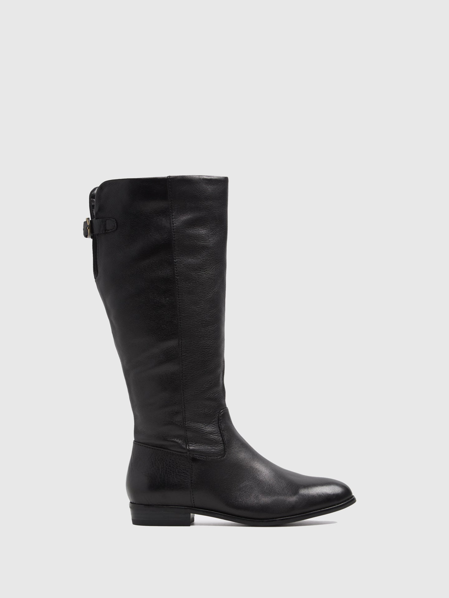 Aldo Black Leather Knee-High Boots