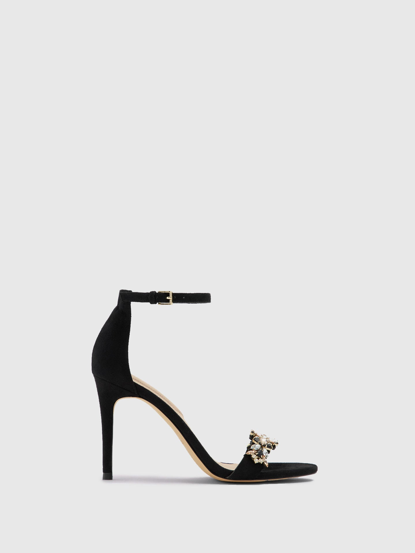 Aldo Black Appliqués Sandals